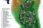 Mapa celého rozlehlého areálu Neverlandu.