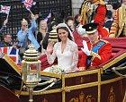 Kate s Williamem na své královské svatbě.