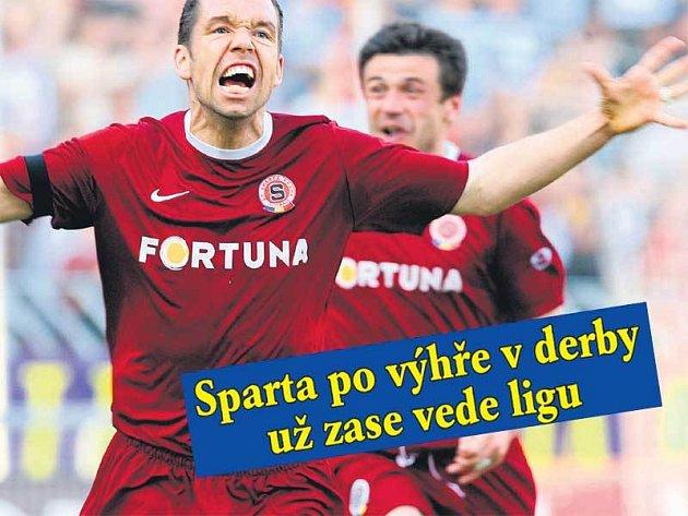 Doslova v sedmém nebi se ocitl Pavel Horváth. Aby ne, když svým gólem rozhodl o vítězství Sparty v derby.