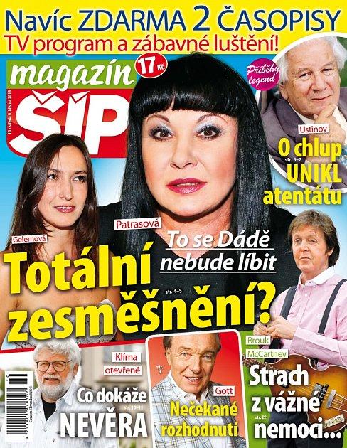 Titulní strana Magazínu Šíp 9.3.2016