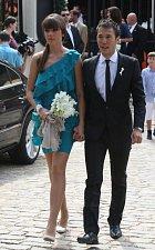 Eliška Šeredová dorazila na sestřinu svatbu s přítelem.