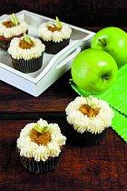 Jablečné dortíky s karamelem