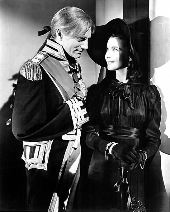 SLaurencem Olivierem, svou životní láskou, ve filmu Lady Hamiltonová (1941)