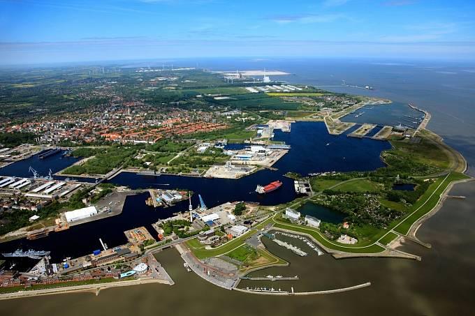 Letecký pohled na Wilhelmshaven