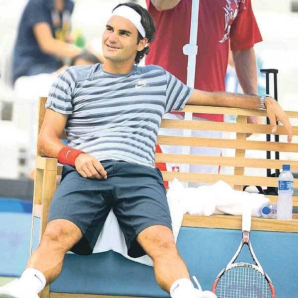 Švýcarský gentleman neztrácí úsměv ani při odpočinku.