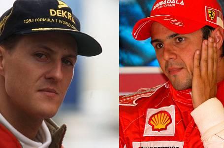 Michael Schumacher a Felippe Massa
