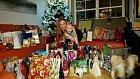 Romana Pavelková se synem o Vánocích