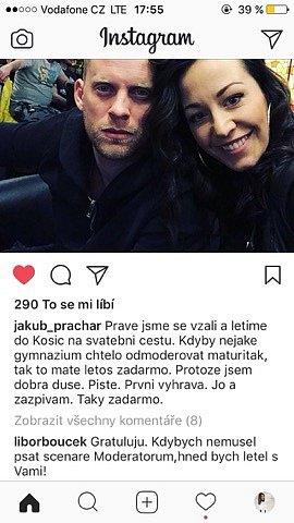 Kuba Prachař se ismanželkou Agátou veřejně pustil do Leoše Mareše.