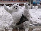 Kung-fu pandí sněhulák.