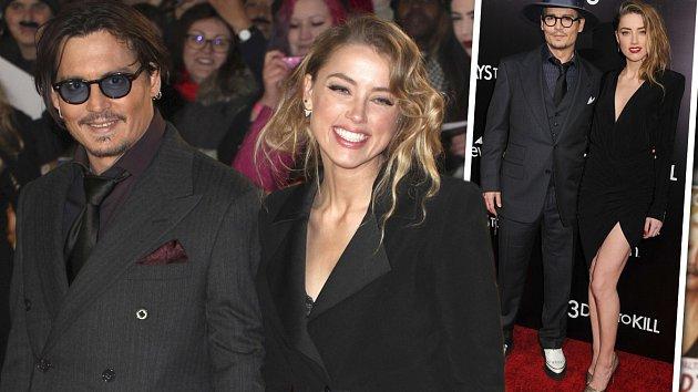 Johnny Depp má ve společnosti vždy po boku krásnou manželku Amber Heard.