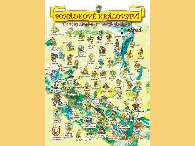 Aktuální mapa Jihočeského Pohádkového království