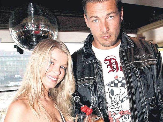 Romana a její snoubenec Petr Jákl