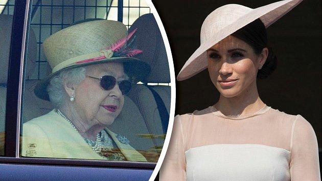 Alžběta II. pomlouvala rodinu Meghan ina svatbě.