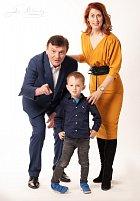 Pavel Trávníček s manželkou Monikou a synem Maxem.