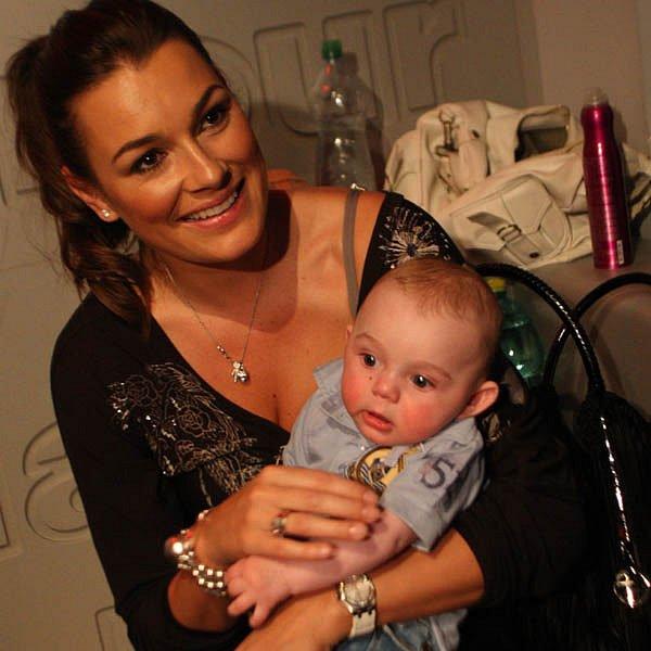 Alena Šeredová se synem Louisem Thomasem