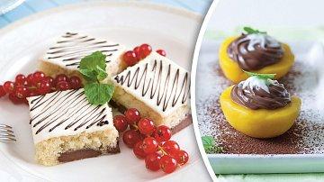 Mramorová bublanina  a čokoládová broskev