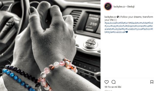 Instagramový profil, který patří usměvavé Lucce.