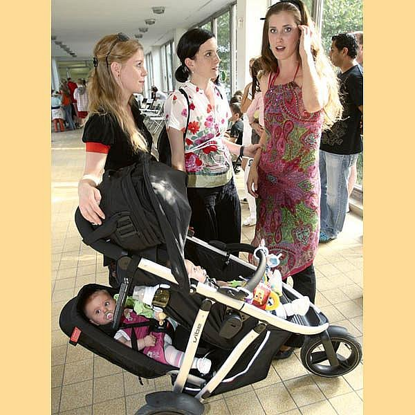 Míša probírala své problémy sostatními maminkami, Monikou Zoubkovou a Janou Bernáškovou.
