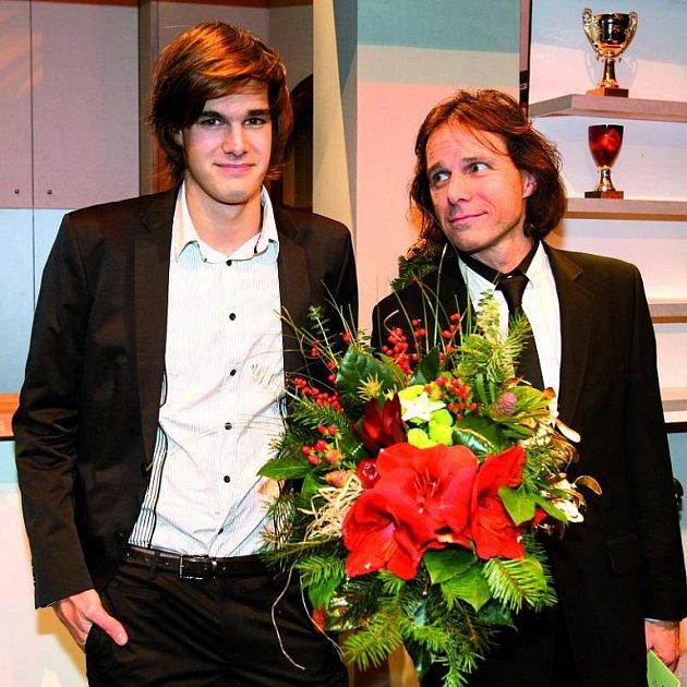 Janek Ledecký se synem Jonášem