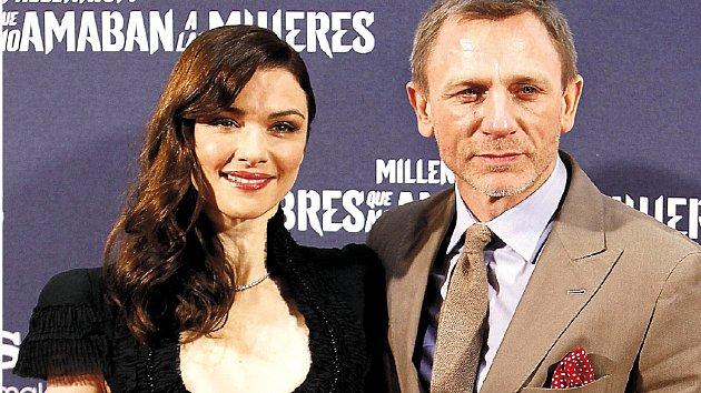 Herec Daniel Craig se svou partnerkou Rachel Weisz
