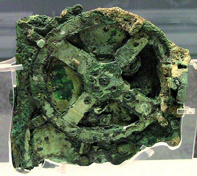 Hlavní nalezená část bronzového machanismu.
