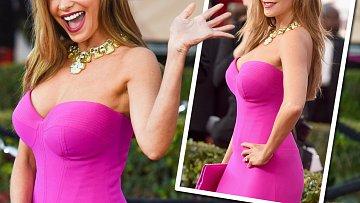 Neuvěřitelně sexy byla v růžových šatech známá herečka!