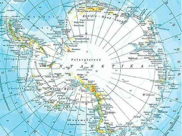 Mapa Antarktidy