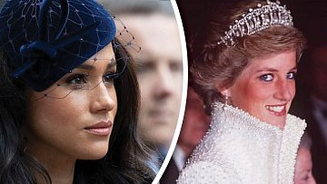 Vévodkyně Meghan a Princezna Diana.