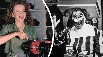 Marylin Monroe v dobách, kdy ji nikdo neznal, a první klaun od McDonalda.