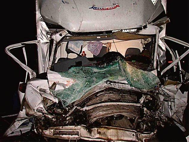Dopravní nehoda na dálnici D2.