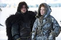 John Sníh a Ygritte v seriálu Hra o trůny