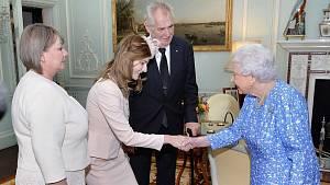 Kateřina Zemanová, Alžběta II., Miloš Zeman, Ivana Zemanová
