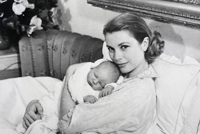 Grace Kelly se synem Albertem