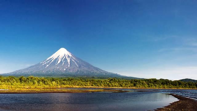 Kronocká sopka má dokonalý tvar.