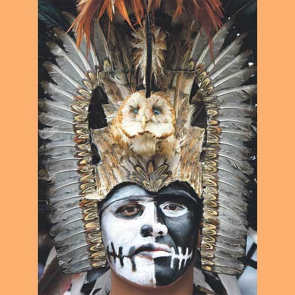 Aztékové uctili stará posvátná místa.