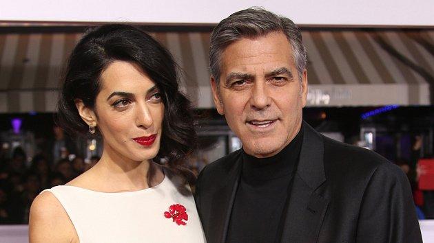 George Clooney smanželkou Amal