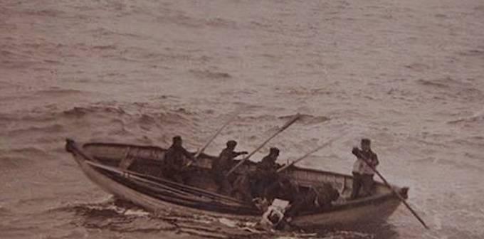 Záchranné čluny Titanicu.