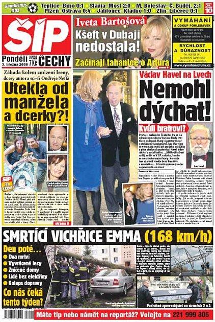 Titulka 3. 3. 2008