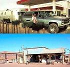 Nepříjemně vyhlížející pumpa Gas Haven z nové verze hororu Hory mají oči z roku 2006 se ve filmu nacházela v Novém Mexicu, najdete ji přitom v Ouarzazate v Maroku.