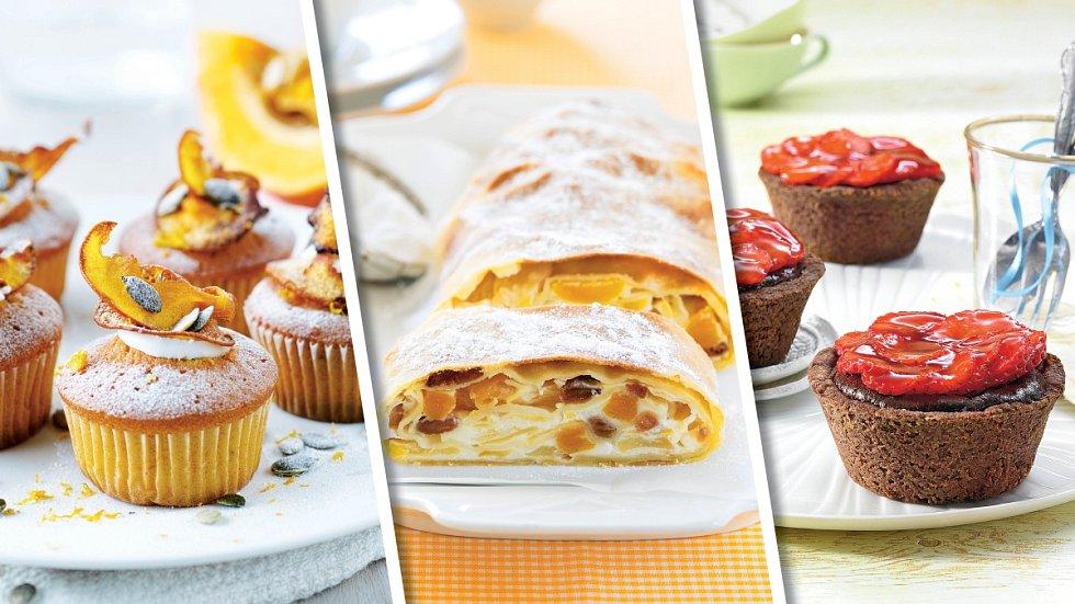 Dýňové cupcakes, sváteční závin a čokoládové košíčky