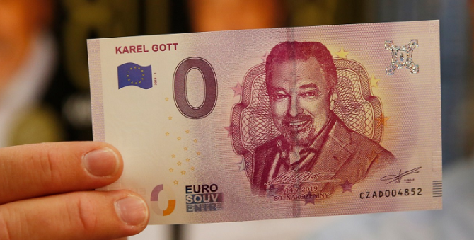 Karel Gott, bankovka