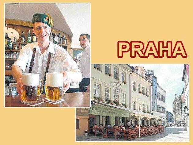 Plzeňský Prazdroj točí U Pinkasů více než 160 let. Pivnici najdete blízko Václavského náměstí.
