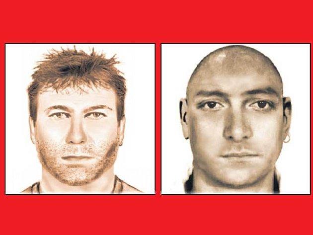 Násilník z Prahy (vlevo) je až nápadně podobný násilníkovi z Budějovic.