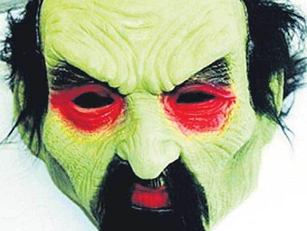S touto gumovou maskou šel muž loupit do baru.