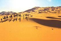 Sahara, skalnatá poušť