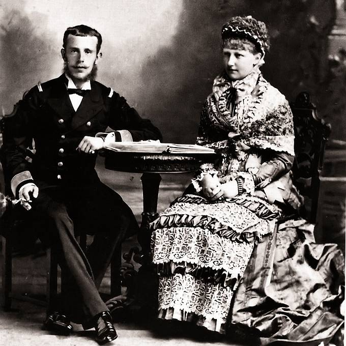 Rudolf Habsburský a jeho žena Stéphanie