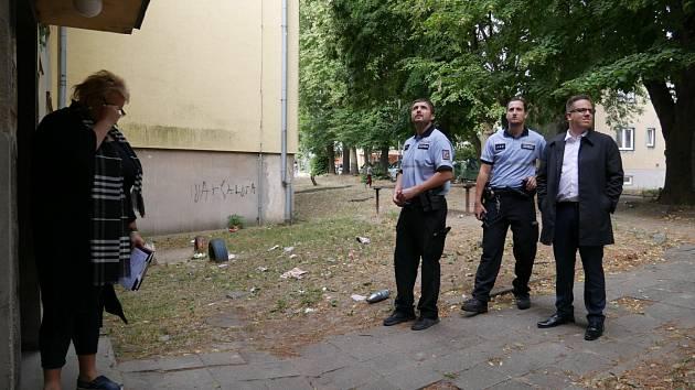 Kontrola na ulici Technická v Ostravě.