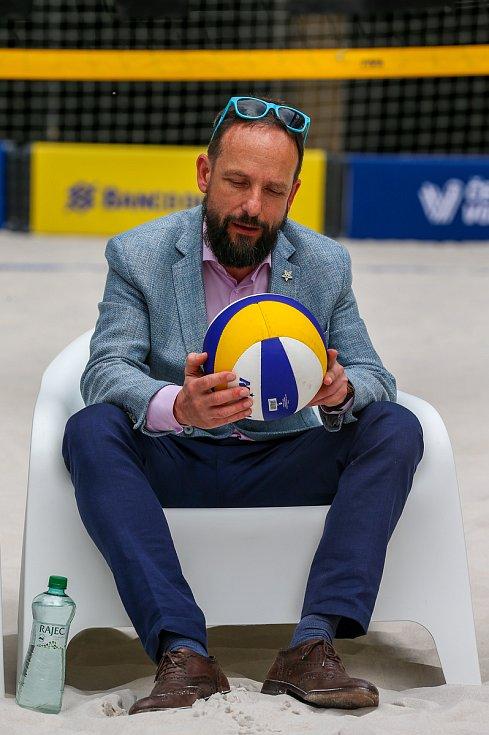 Tisková konference FIVB Světové série v plážovém volejbale J&T Banka Ostrava Beach Open, 27.května 2019 v Ostravě. Na snímku Tomáš Macura, primátor města Ostravy.