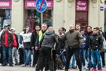 Další ze série protiromských demonstrací v Ostravě