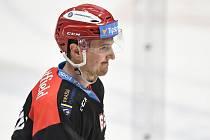 Utkání 13. kola hokejové extraligy: HC Vítkovice Ridera - Mountfield Hradec Králové, 25. října 2019 v Ostravě. Na snímku Rudolf Červený.